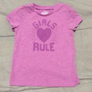 Toddler girls 24mo/2T OshKosh T-shirt like new